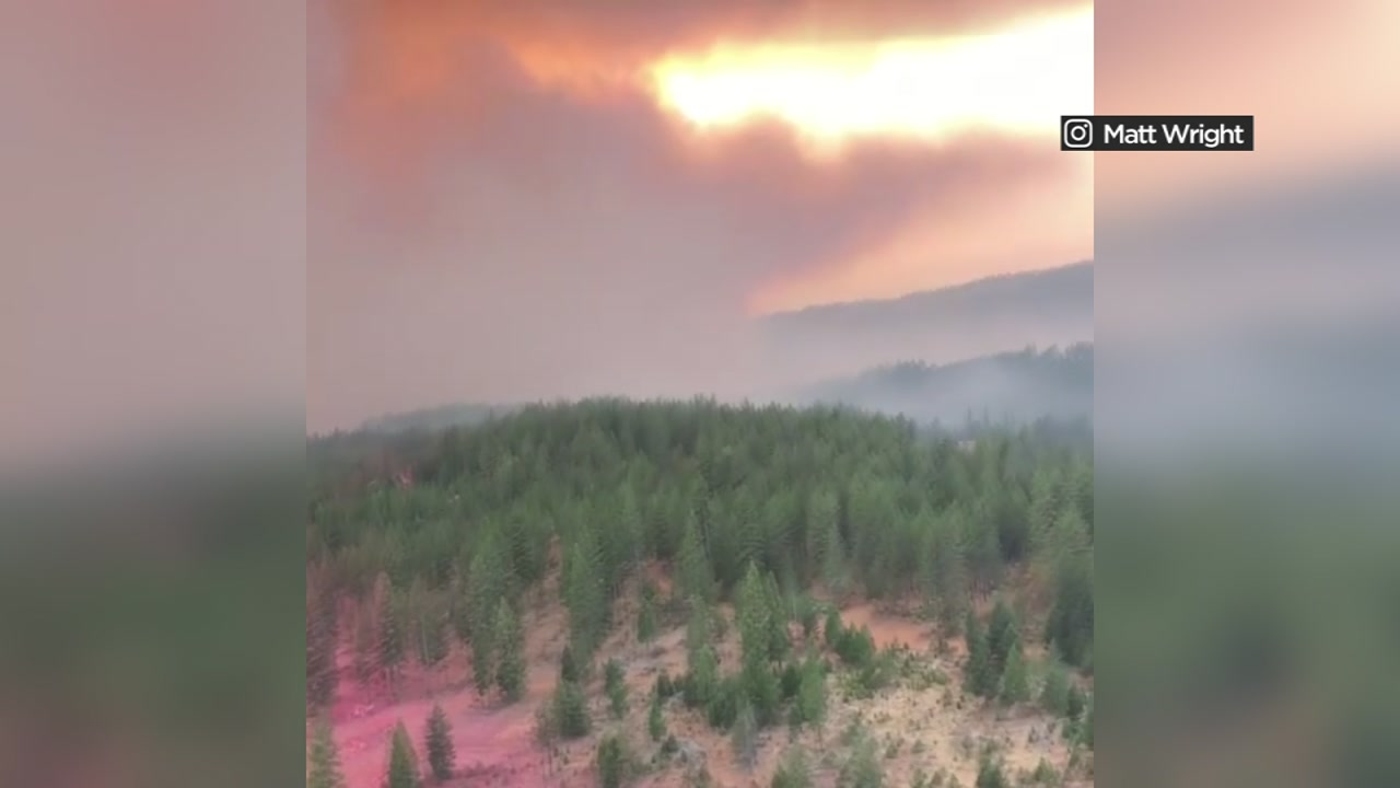 Were getting a closer look at what aircraft crews see when theyre battling flames in Butte County.