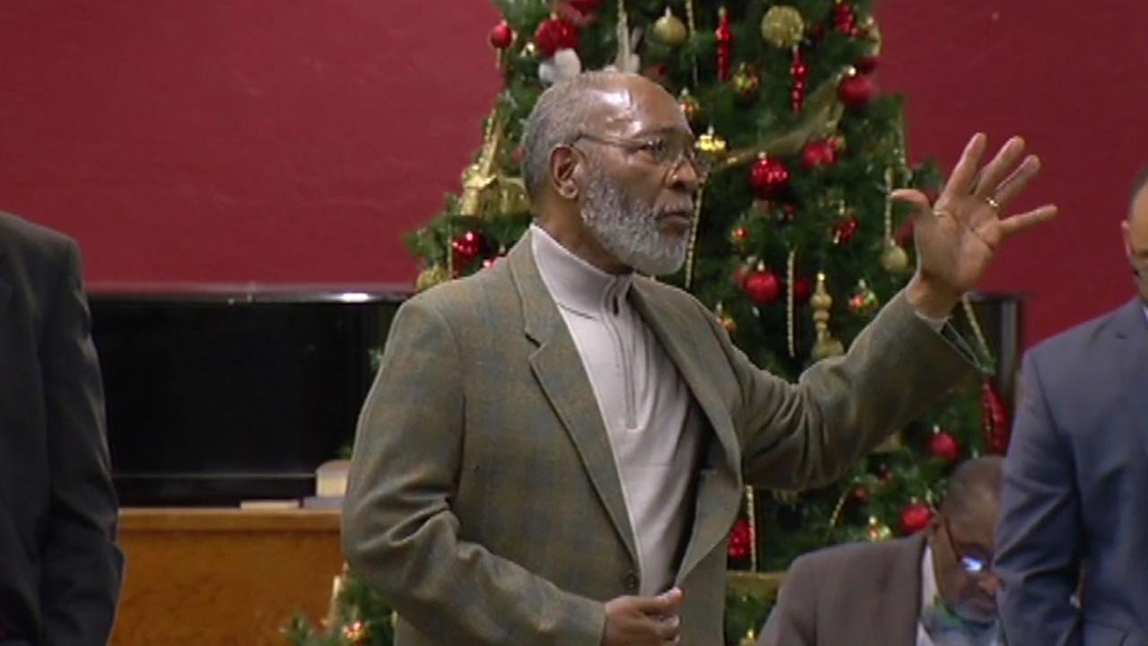 Rev. Dr. Amos Brown at a San Francisco NAACP meeting