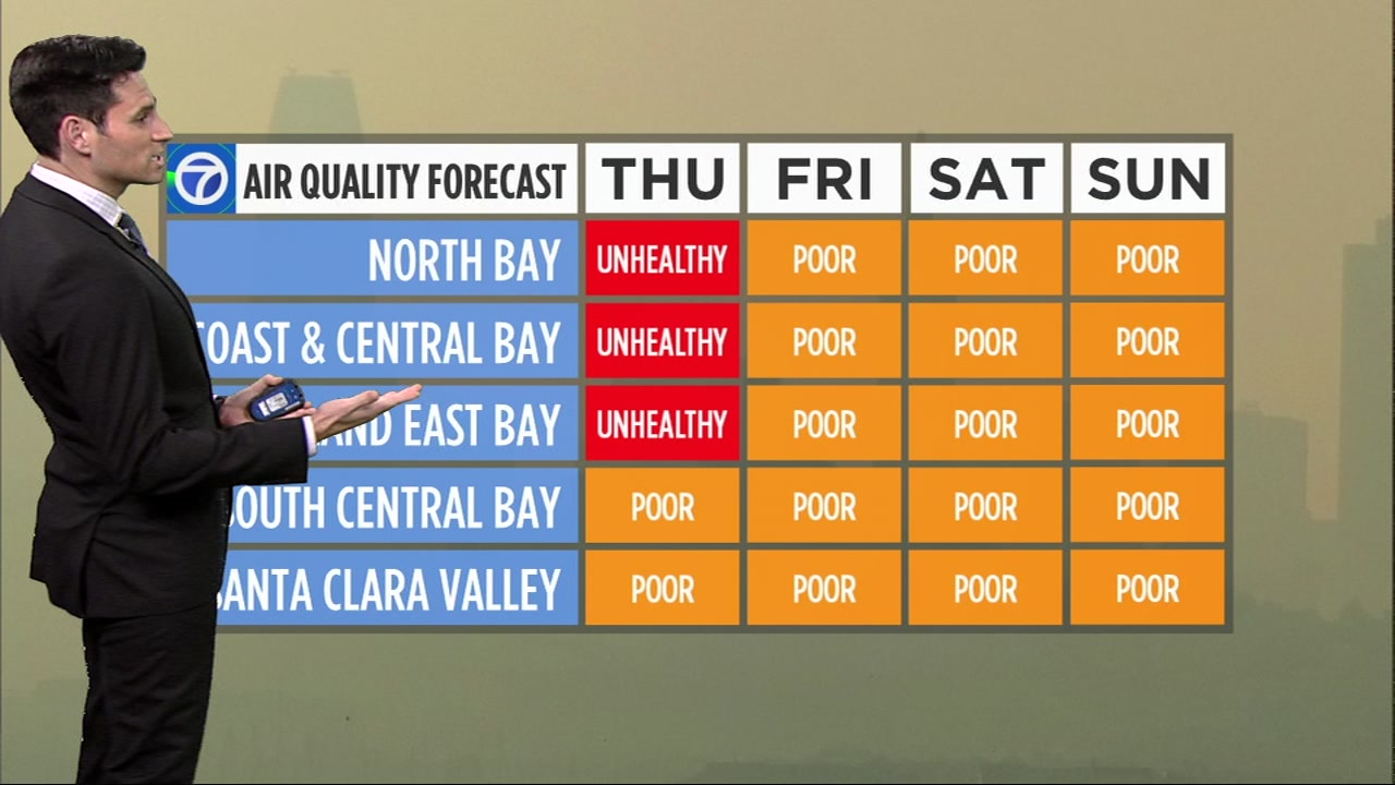 Tonight will bring hazy skies again, as smoke continues to build up in the Bay Area.