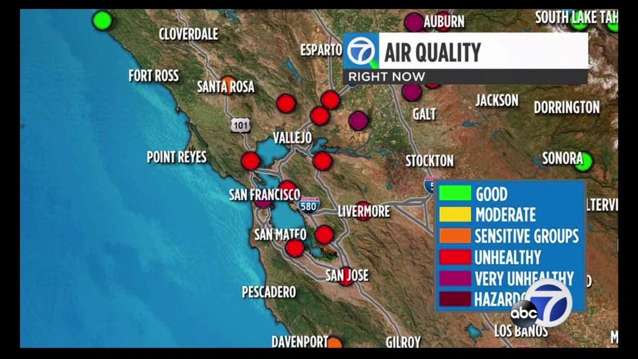 San Francisco just reported very unhealthy air for the first time since the Camp Fire began.