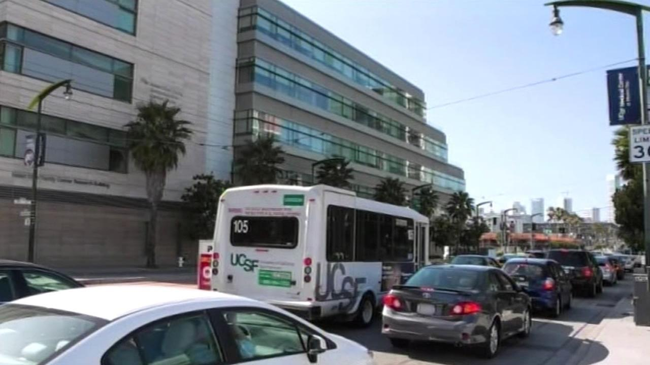 traffic around UCSF Medical Center in Mission Bay