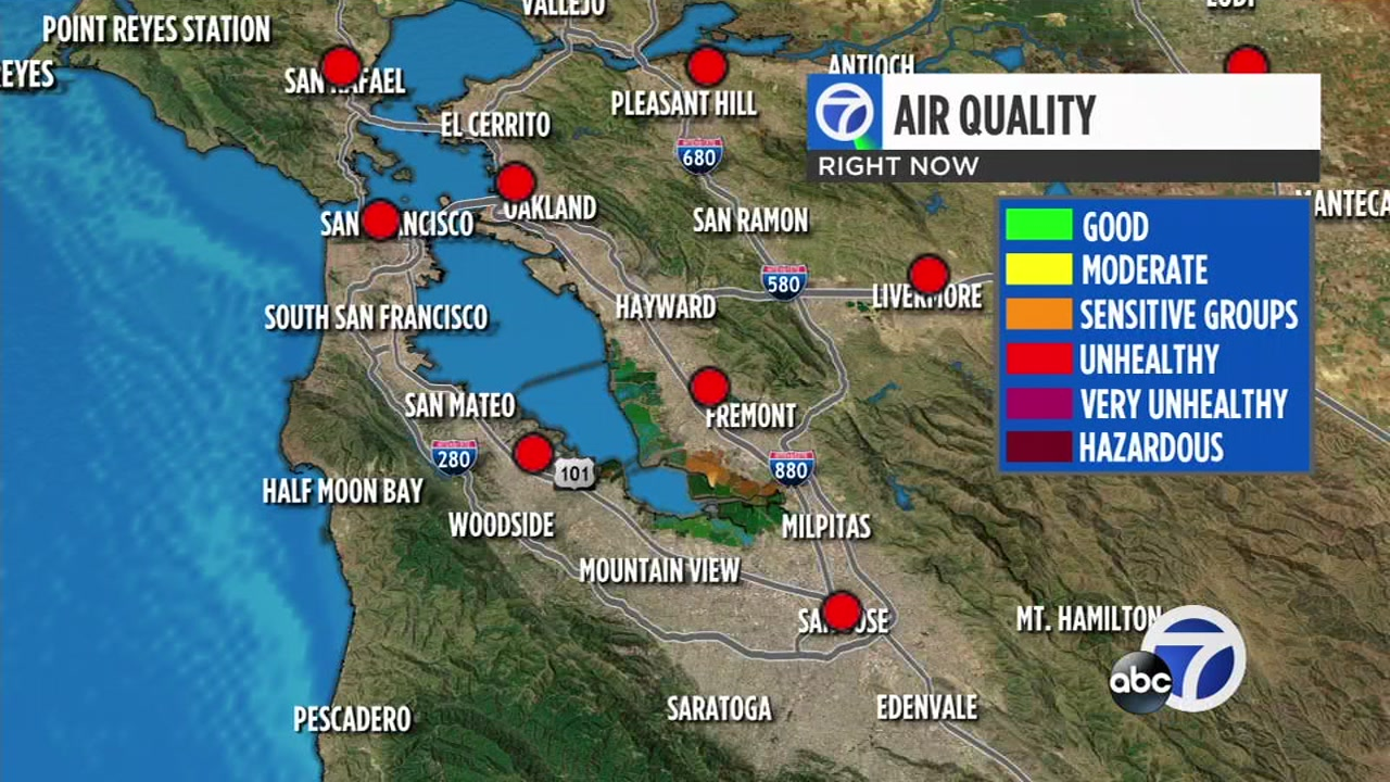 Air quality still unhealthy across Bay Area