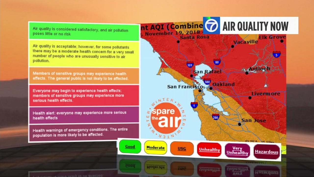 Smoke from Butte Countys Camp Fire continues to plague the Bay Area. Heres a look at air quality levels where you live.
