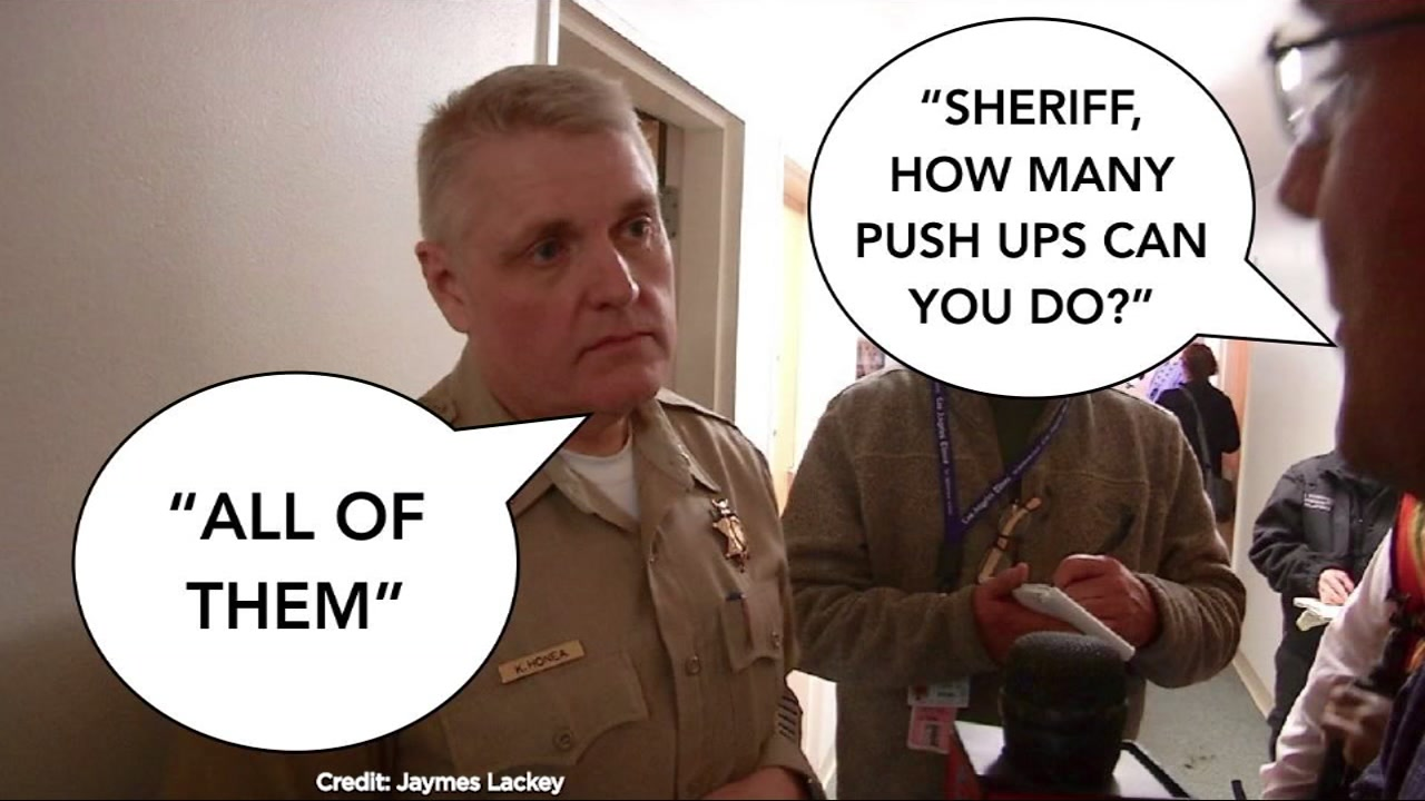 In the middle of one of our states deadliest disasters, the sheriff of Butte County has become an internet sensation.