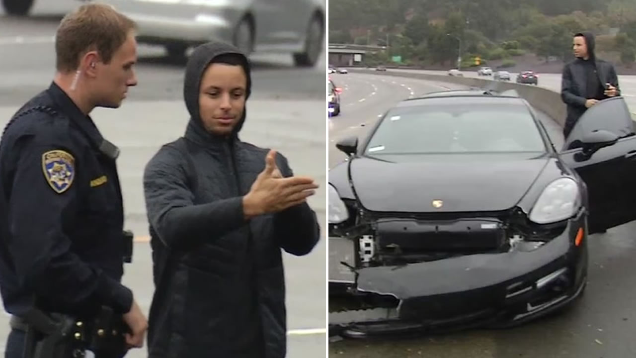 Stephen Curry explains what happened to a CHP officer on Friday, Nov. 23, 2018 on Highway 24 in Oakland, Calif.