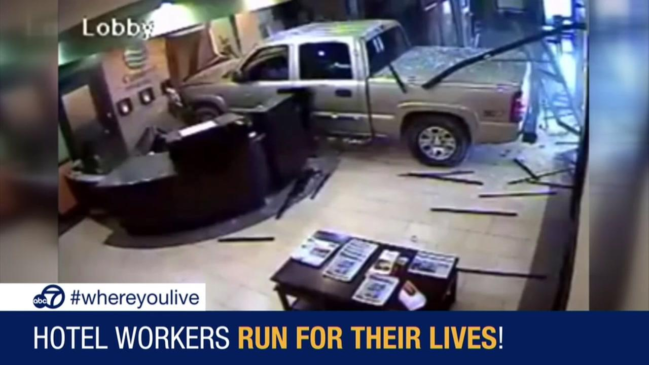 KNOW AND TELL: Angry guest crashes truck into Oklahoma hotel