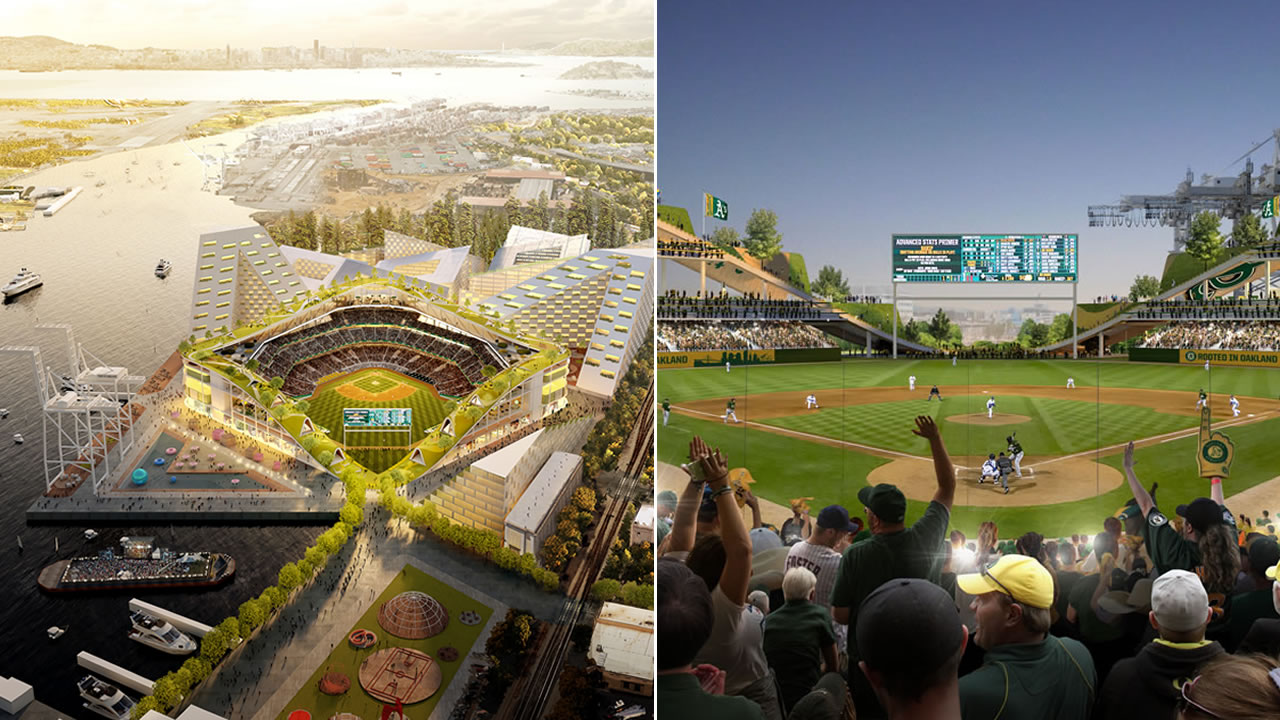 The As released renderings of their vision for a new ballpark in Oakland, Calif. on Wednesday, Nov. 28, 2018.