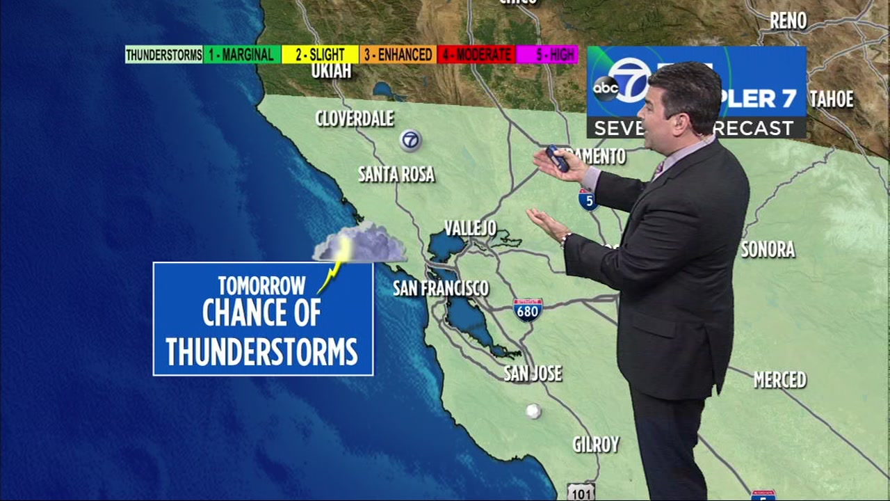 ABC7 News Meteorologist Mike Nicco has your updated thunderstorm forecast.