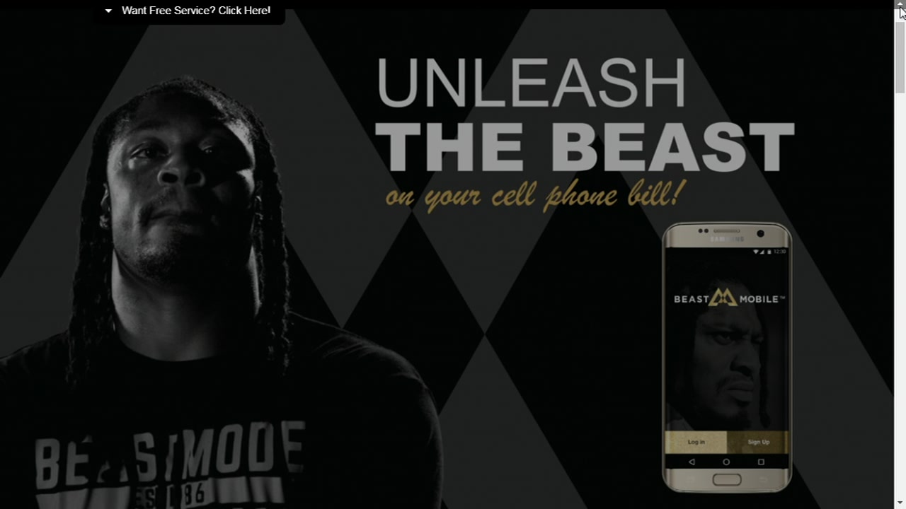 This undated image shows Marshawn Lynch in an ad for Beast Mobile.