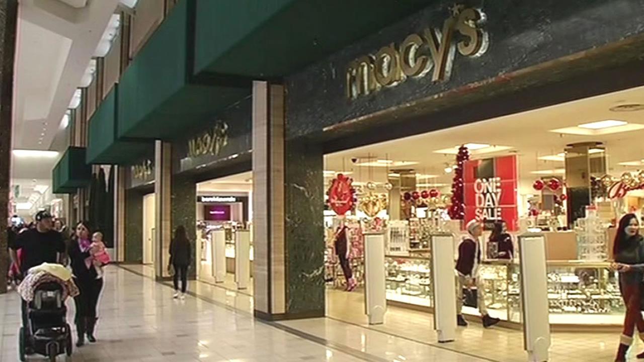 shoppers outside Macys