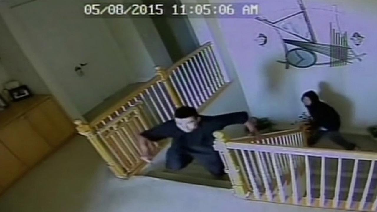 Surveillance video shows suspects after they broke into a home in Berryessa District, Calif. in August 2014.
