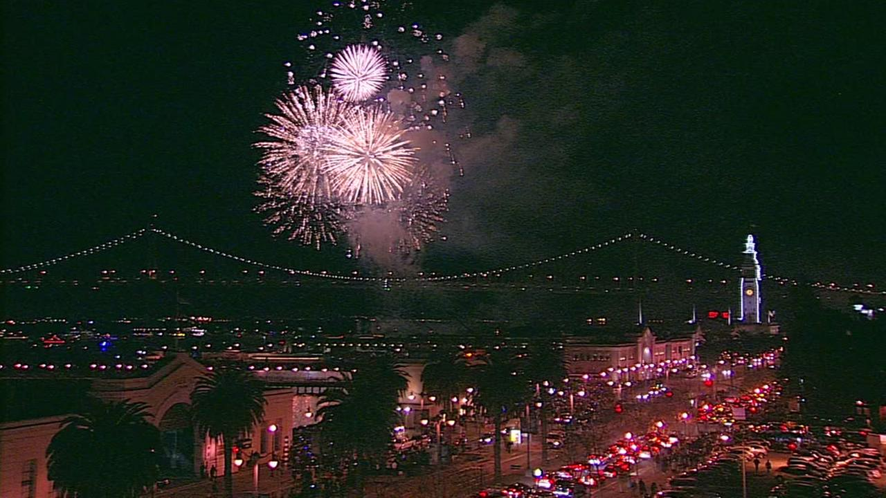 RAW VIDEO: Fireworks celebration over San Francisco Bay