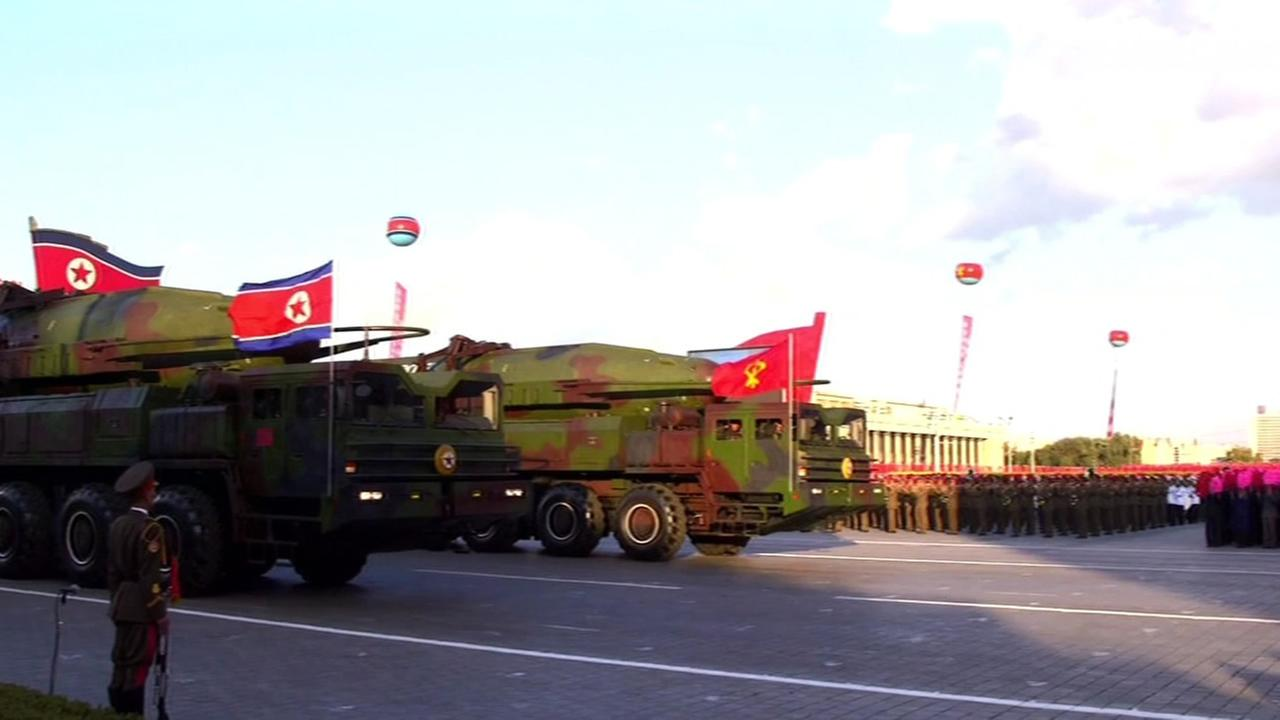 North Korea military is seen in this undated image.