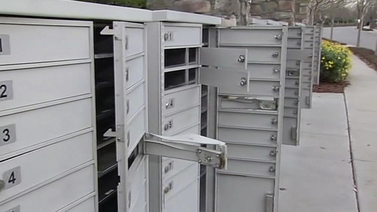100 mailboxes were broken into at a housing complex