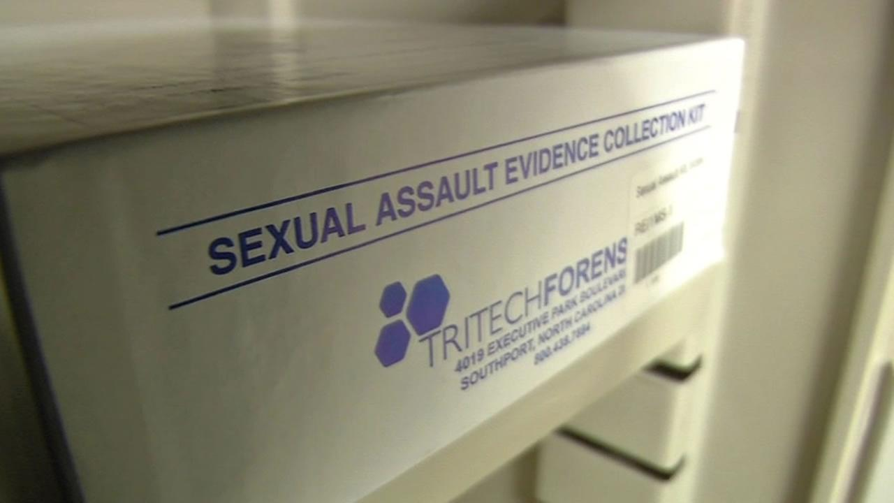 rape kit on the shelf