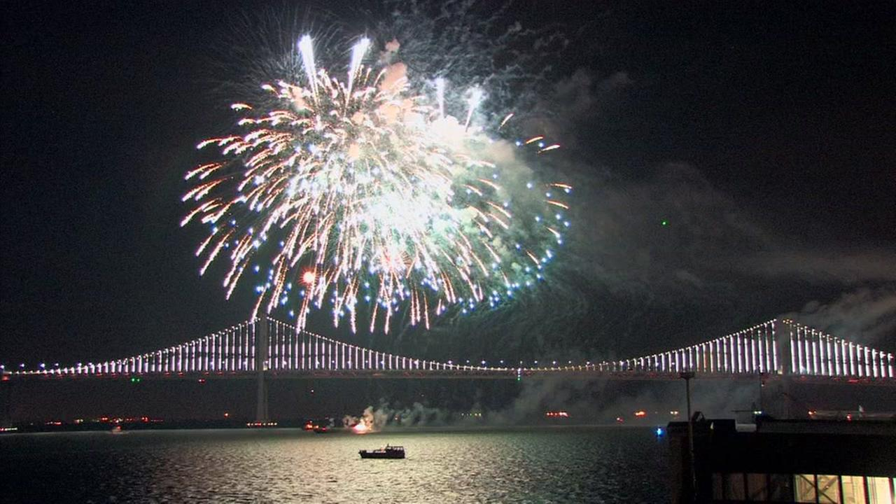 RAW VIDEO: Super Bowl 50 fireworks show in San Francisco