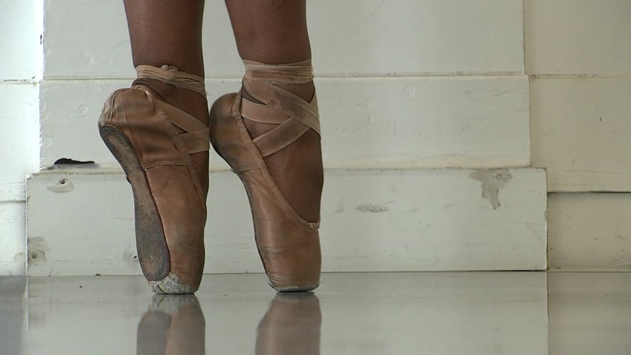 Ballet shoes are seen in this undated image.