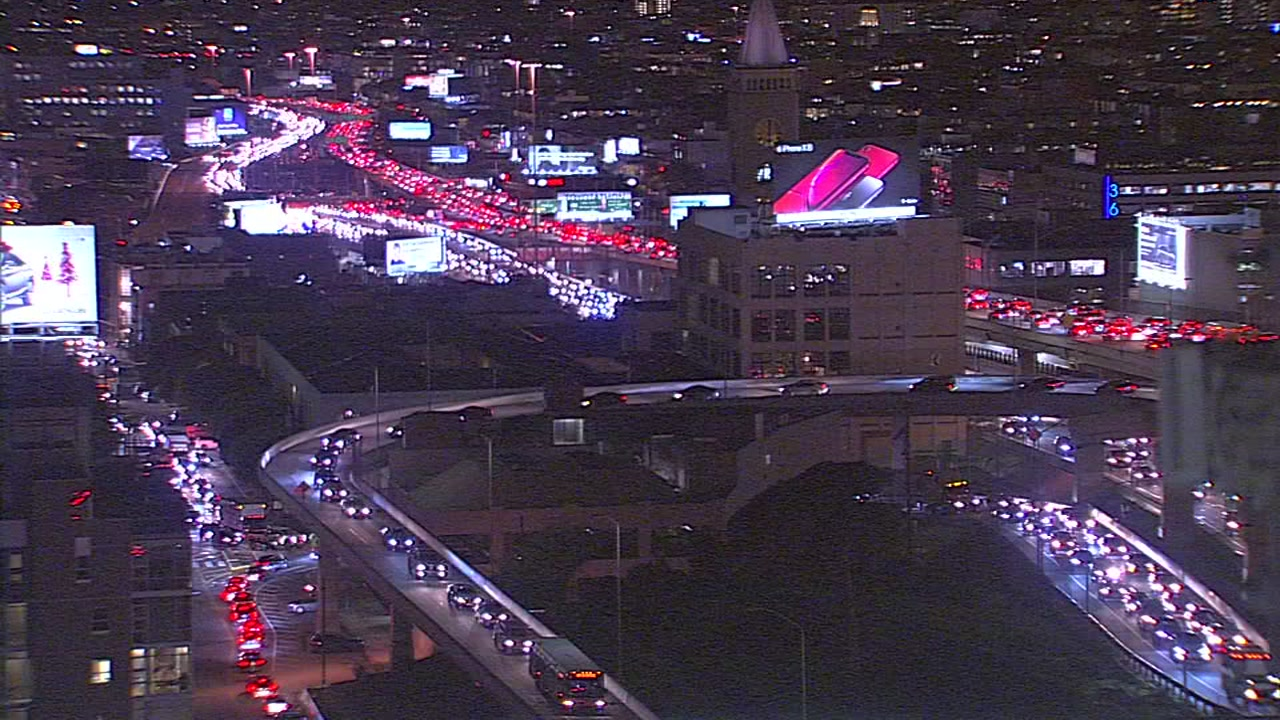 This image shows traffic in San Franciscos Financial District on Wednesday, Dec. 05, 2018.
