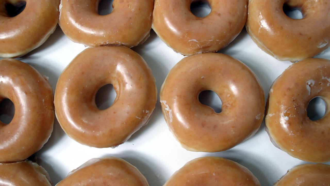 Krispy Kreme glazed dougnuts are shown, Wednesday, Nov. 10, 2004, in Charlotte, N.C.