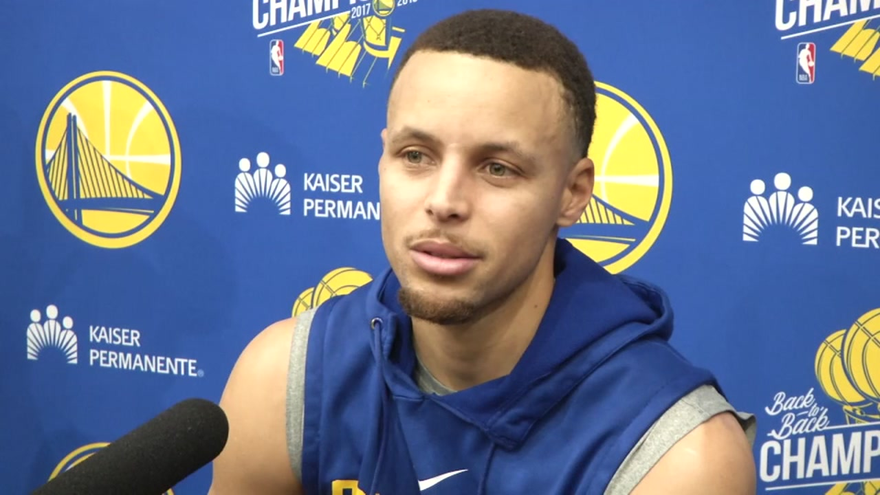 Warriors Stephen Curry spoke out Thursday about recent comments he made about how he doesn't believe the moon landing actually happened.