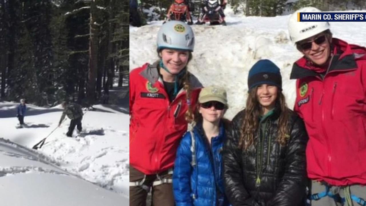 Marin County Search and Rescue team rescues Samantha White in the Sierra