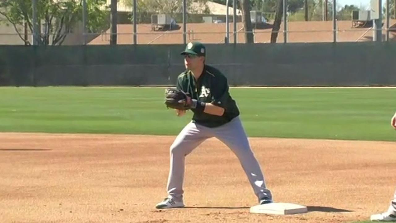 Oakland As at spring training