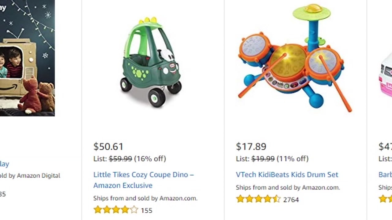 Toys are seen on an online shopping website in this undated image.