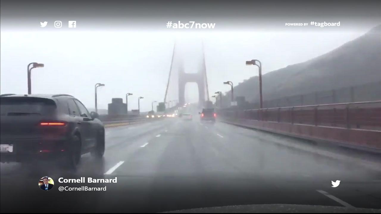 This photo was taken on the Golden Gate Bridge in San Francisco, Calif. on Monday, Dec. 24, 2018.