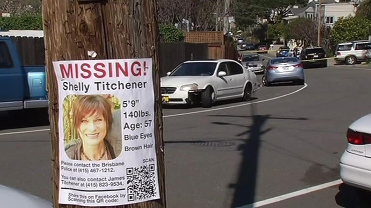 A flyer of a missing woman named Shelly Titchener from Brisbane, Calif. is seen in this undated image.