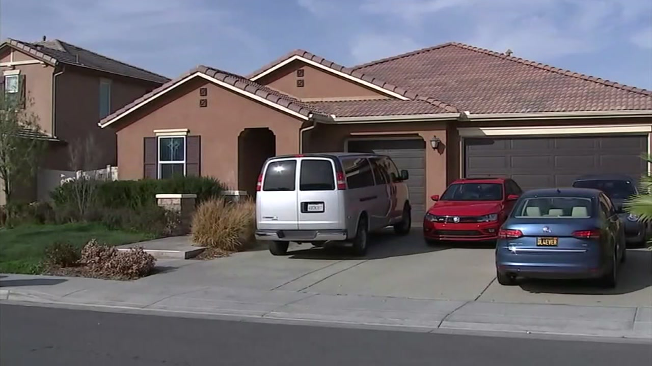 A home in Perris, Calif. where a dozen children were allegedly tortured by their parents is seen in this undated image.