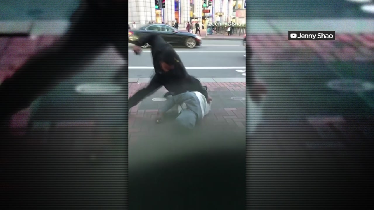 A suspect is seen during a brutal robbery and attempted murder in San Francisco on Friday, Dec. 28.