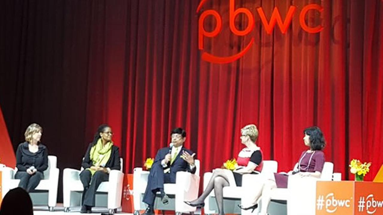 Panelists speak at PBWC in San Francisco on Tuesday, March 22, 2016.