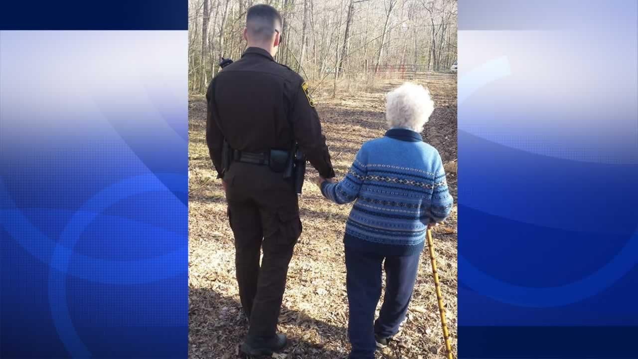 A Facebook post showing an officers kindness toward an elderly woman is eliciting big smiles - and big shares.