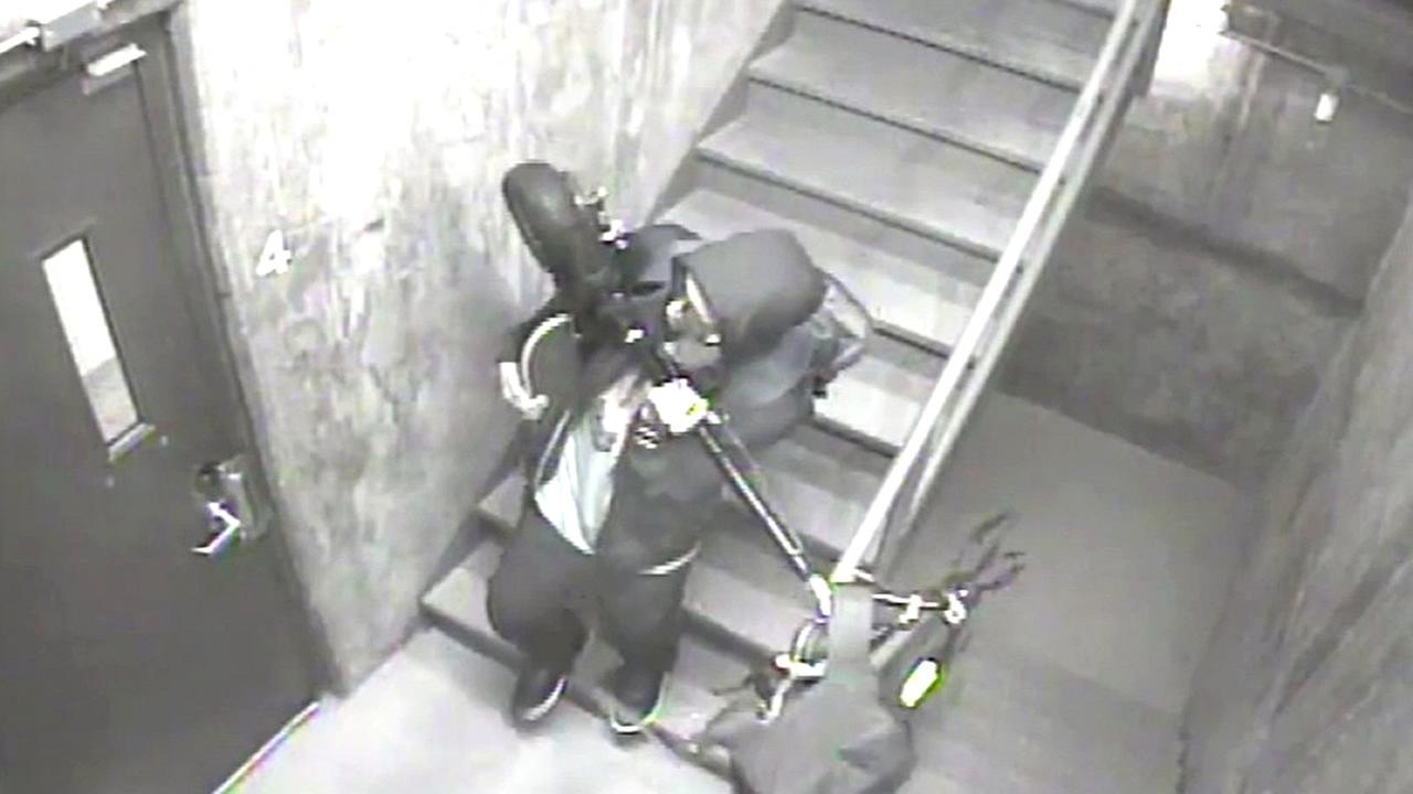 Surveillance video captured a man allegedly stealing Hunter Pences scooter from the Make-A-Wish Foundation in San Francisco, Calif.