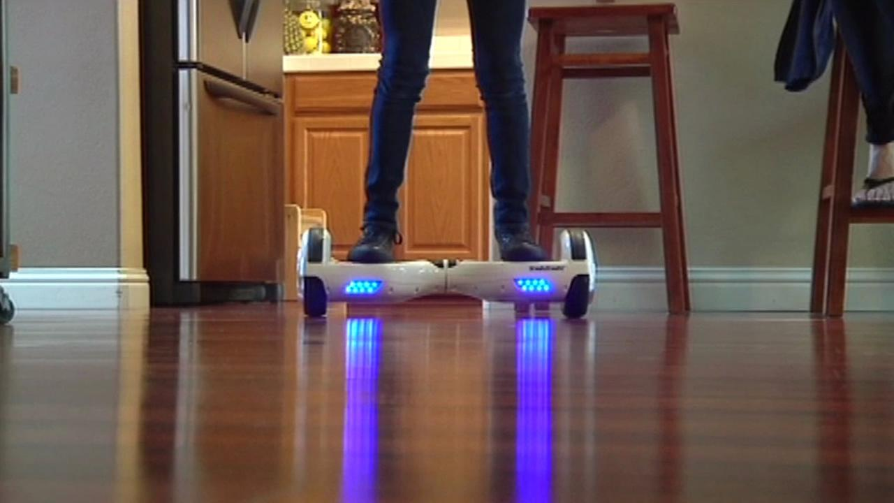 A white hoverboard is seen in this undated image.
