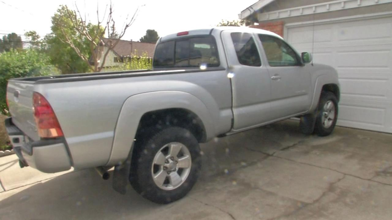 This image shows a Toyota truck owned by Martinez resident Christy Ridenour.