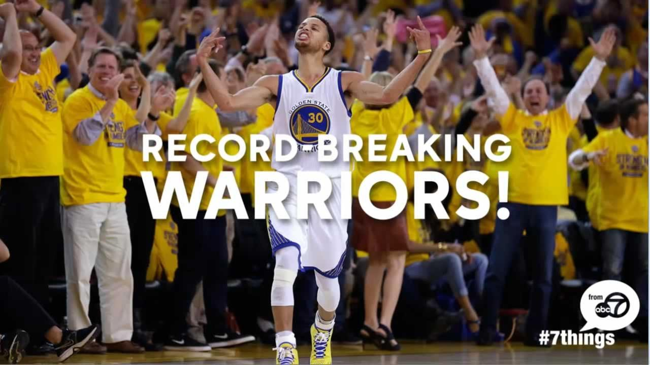 The Warriors broke many NBA records this season.
