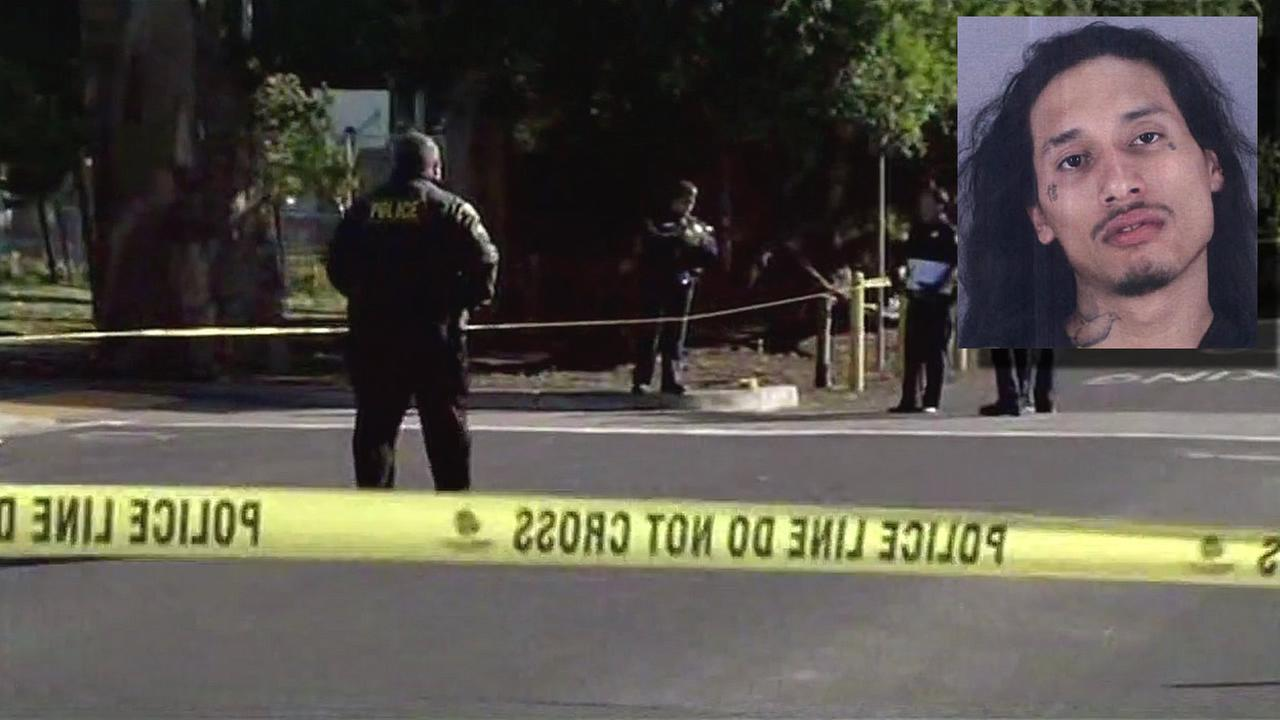A suspect accused of shooting two men near Orange Memorial Park in South San Francisco, Calif. on Monday, April, 25, 2016 is seen in this image.