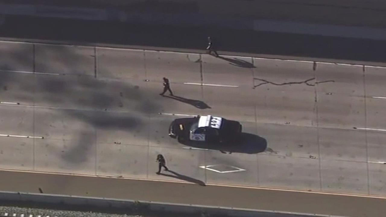 FILE -- Police investigation on Highway 4 in Pittsburg, California.