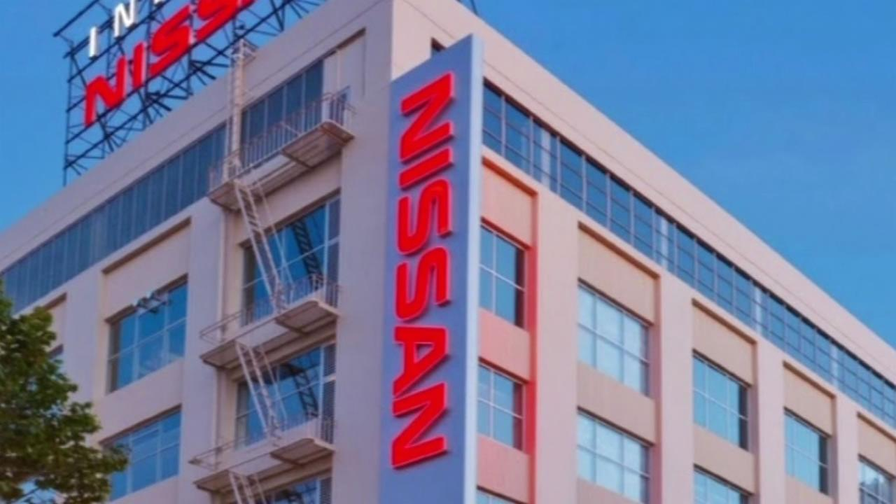 This image shows a Nissan dealership in San Francisco.