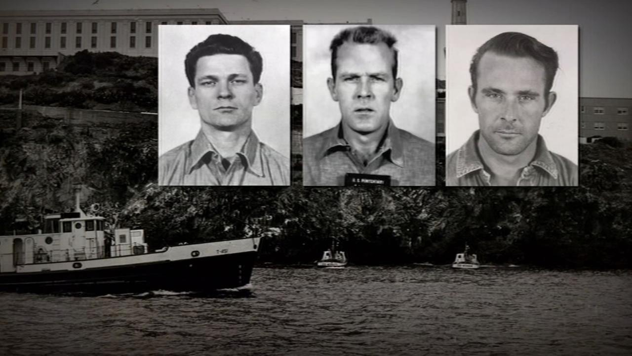 This image shows the three prisoner who escaped from Alcatraz in 1962.