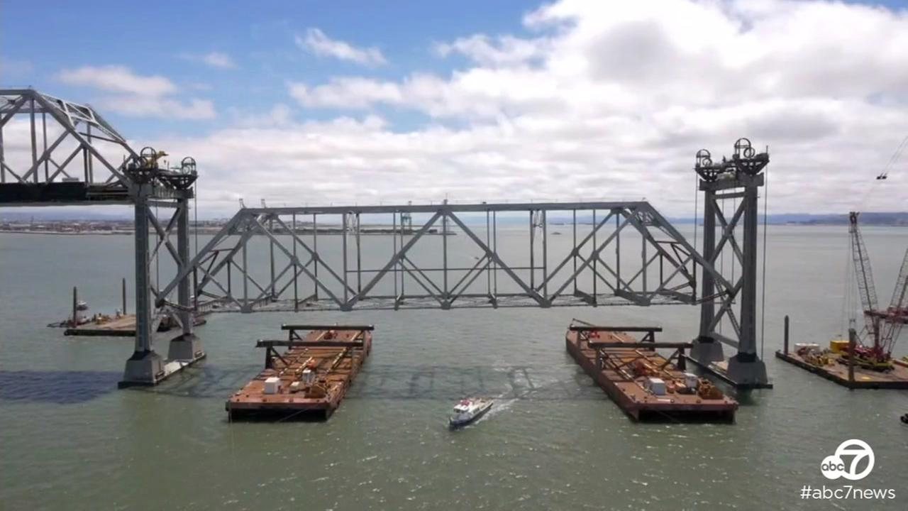 A truss weighing more than 25 tons was removed from the old Bay Bridge eastern span on Tuesday, May 24, 2016.