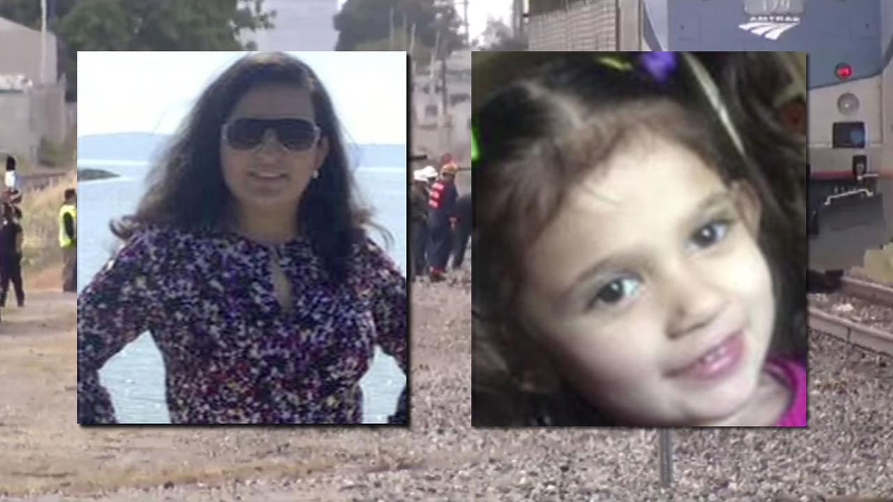 This image shows 30-year-old Vannessa Henriquez and her 3-year-old Saydee. They were killed after an Amtrak train crashed into their car in San Leandro, Calif. on May 24, 2016.