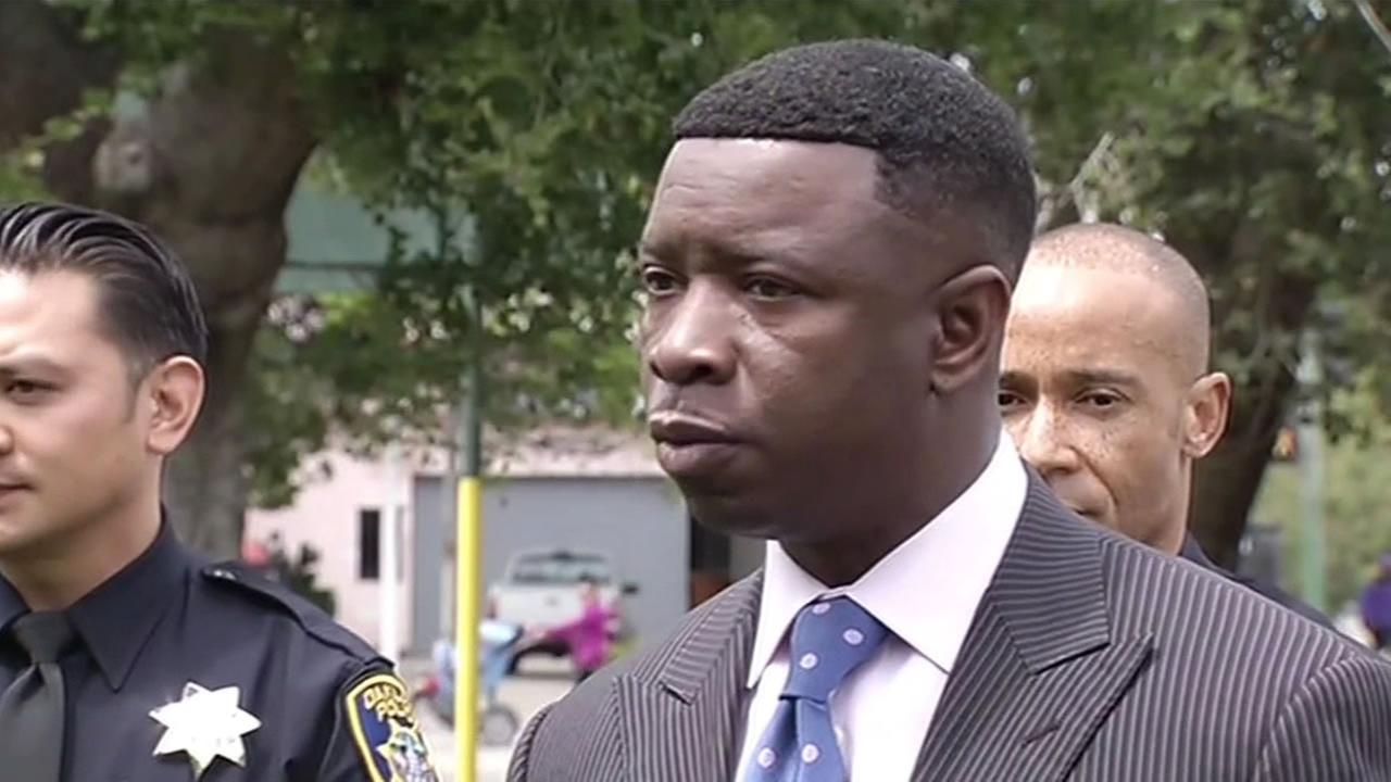 This image shows Oakland police Sgt. James Michael Gantt. Gantt was put on leave for letting his ex-girlfriend type up his police reports.