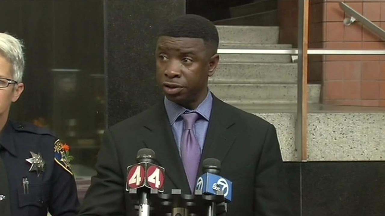 This image shows Oakland police detective Mike Gantt on June 22, 2016.