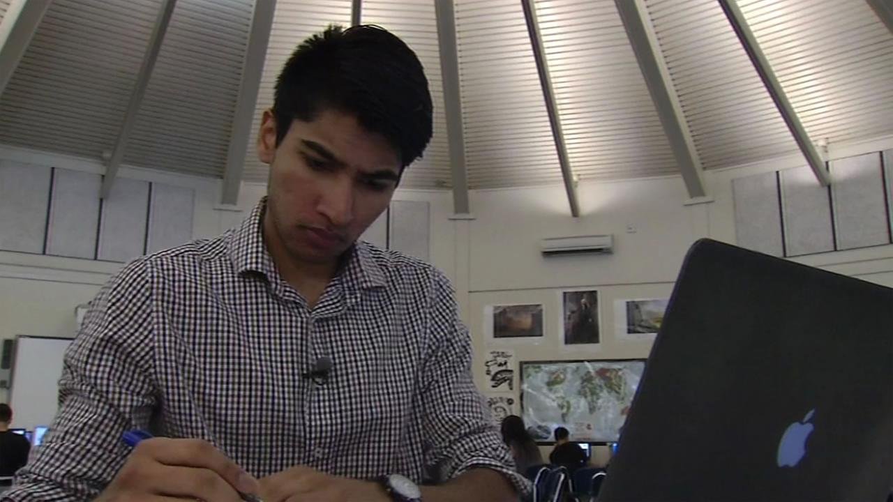 This image shows ABC7 Star Vibhu Singhal, an Irvington High School student in Fremont, Calif.