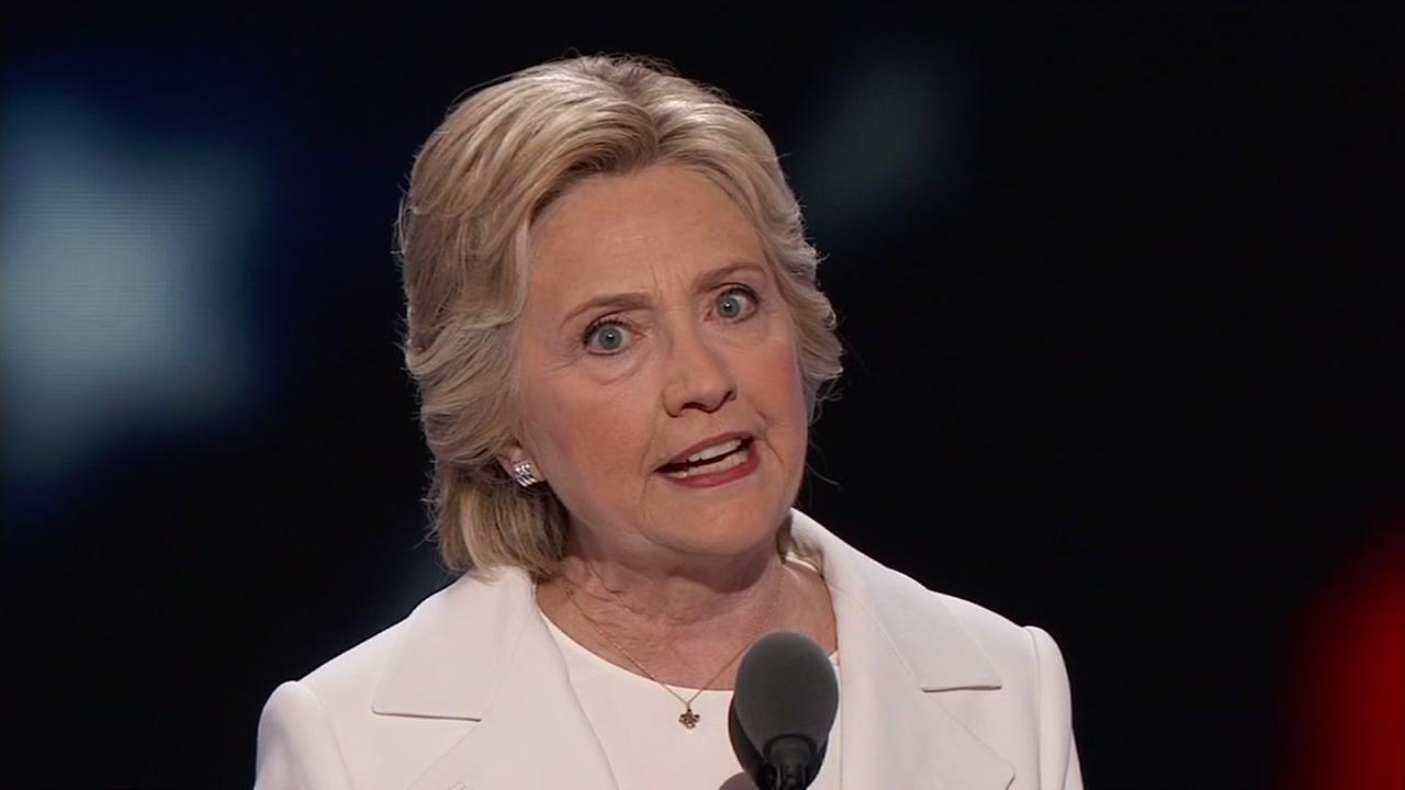 Hillary Clinton promised Americans steady leadership as she accepted the Democratic presidential nomination in Philadelphia on Thursday, July 28, 2016.