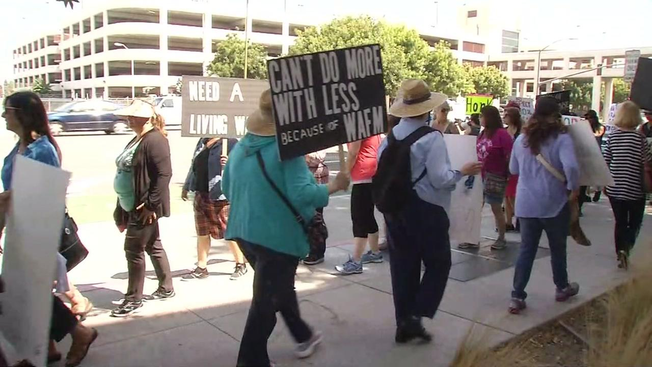 Court workers strike in Santa Clara County on Thursday, August 4, 2016.
