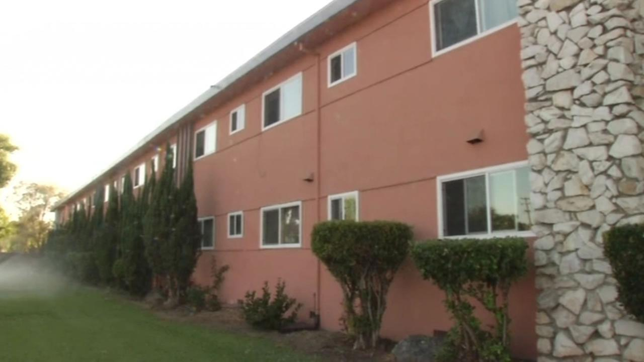 Renters in San Jose are alleging their apartment building, shown in this image, is in disrepair and they are suing their landlord.
