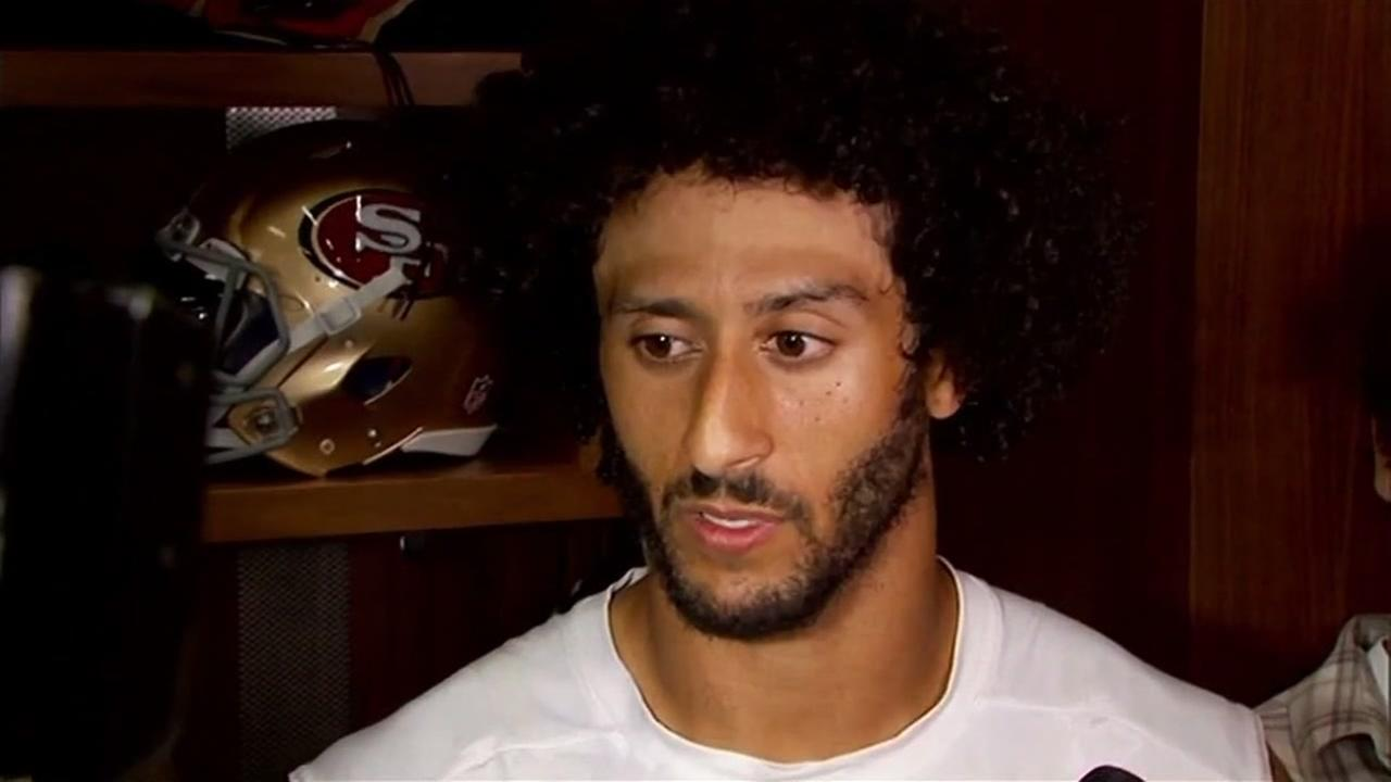 This image shows 49ers Colin Kaepernick.